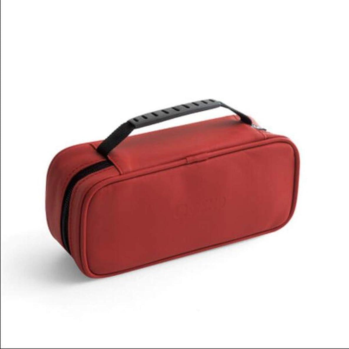 交換インゲン運動するLFOZ 多層化粧品袋家庭用収納袋旅行用旅行用ポータブルベルトPU素材防水防塵ハードウェアジッパーオレンジ 化粧品のバッグ