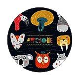 Life is but a span Horloge Murale sans tic-tac 9,8 'Pouces têtes Mignonnes d'animaux Design Clipart...