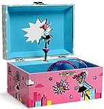 Jewelkeeper - Caja Musical de Almacenamiento de Joyas para Niñas con Superhéroe Giratorio, Diseño Girl Power - Melodía para Elisa