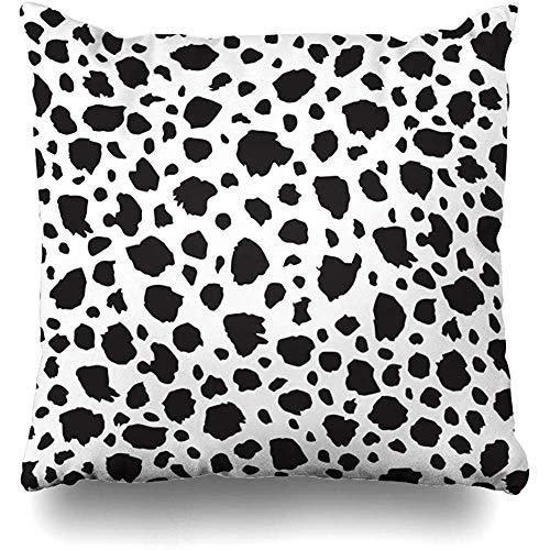 N \ A Cushion cover Milk Dog Spotted Pattern Dalmation Spot Dalmatian Fur Puppy Dot Design Zoo Square Pillow Case Decorative Throw Pillow Cover Home Decor Pillowcase 45X45cm
