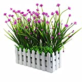 XONOR - Flores artificiales para exteriores - Resistente a los rayos UV - Verduras falsas...