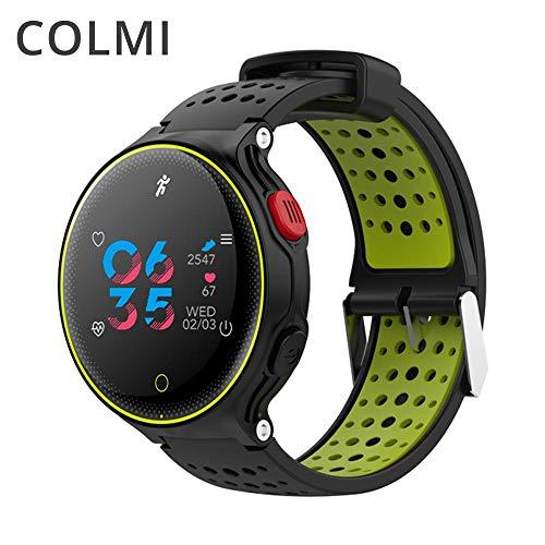 COLMI Reloj inteligente con rastreador de frecuencia cardíaca IP68 resistente al agua, ultra largo, con reposo para iOS y Android (azul)