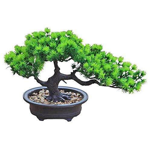 NgMik Bouquet de Fleurs artificielles Simulation Plante en Pot Faux comptoir Arbre de Vie Décoration Chambre Décoration Bouquet Grande Plante Verte Bonsai (Color : Green, Size : One Size)