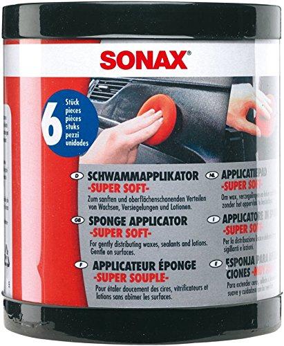 SONAX SchwammApplikator -Super Soft-  (6 Stück) für alle Wachse, Lotionen und Versiegelungen | Art-Nr. 04176410
