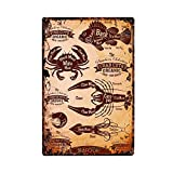 ivAZW Cartel Chapa Nostalgic-Art Metal Carnicería Vintage Kitchen Collection Retro Wall Plaque Painting Craft Seafood