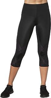 CW-X Conditioning Wear Women's Stabilyx 3/4 Tights, Black, X-Large