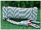 QHY Cuerda Auxiliar De Escalada Cuerda De Escalada De Nylon De Alta Resistencia para Usos Al Aire Libre Supervivencia Emergencia Rescate Camping 18mm (Color : White, Size : 15M*18MM)