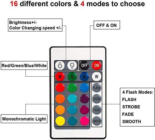 USB Kabel Einstellbar 7 Farben Dekoration de la Maison Dekorative Leuchten f/ür Schlafzimmer Kinderzimmer Wohnzimmer Bar Shop Caf/é Fernbedienung EEEKit 4 Pack 3D Nacht LED Licht Lampensockel