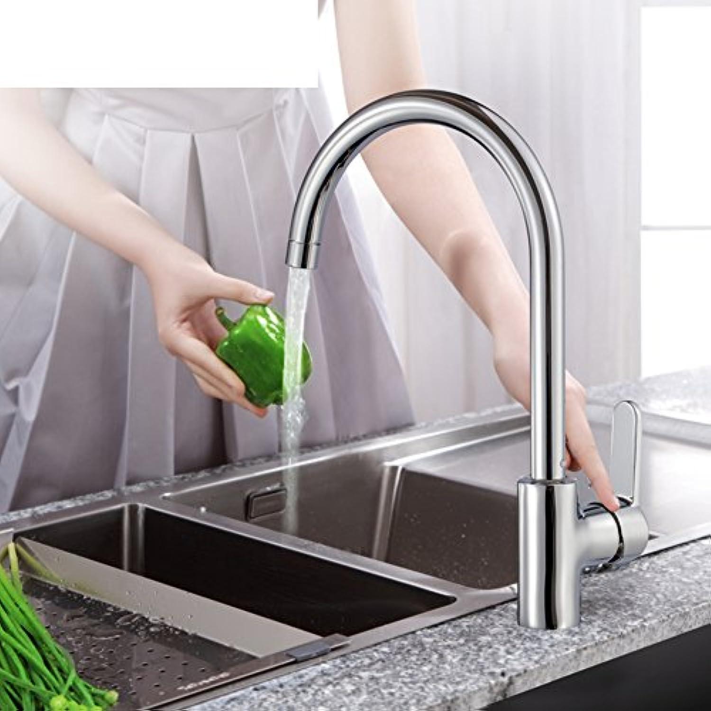 HCP Gemüse Becken Küchenarmatur Alle Kupfer Drehhahnloch Tippen Sie warm und kalt