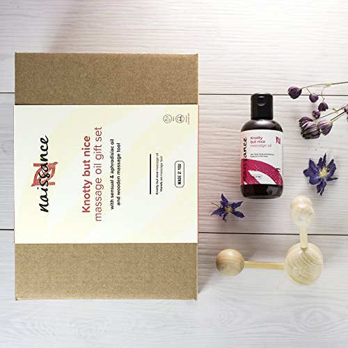 Naissance 'Knotty but Nice' Sensual Massage Oil Gift Set - Romantic Gift for Any Occasion - Ideal Date Night Treat