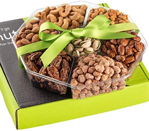 Holiday Nuts Gift Basket Fresh Sweet Salty Dry Roasted Gourmet Gift Basket Food Gift Basket product image