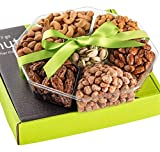 Holiday Nuts Gift Basket - Fresh Sweet & Salty Dry Roasted Gourmet Gift Basket - Food Gift Basket for Christmas, Thanksgiving, Fathers Day, Mothers Day, Sympathy, Family, Men & Women
