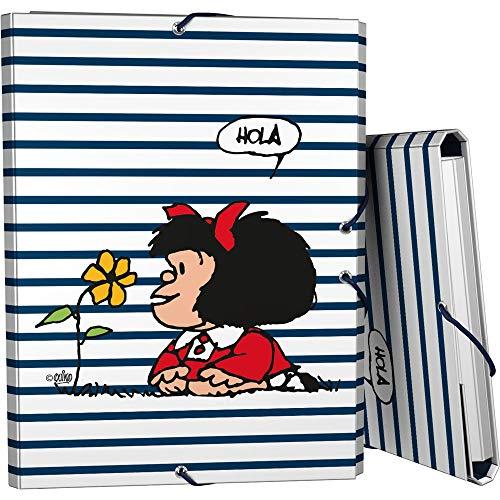 Mafalda 82402613 Kollektion Mafalda Ordner mit 3 Klappen, mehrfarbig, Blatt