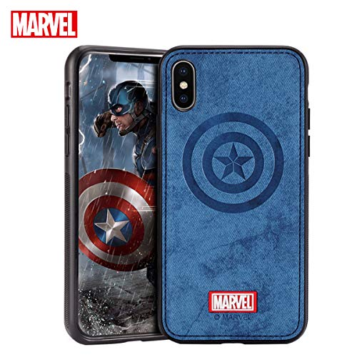 TinPlanet Marvel Avengers Endgame iPhone Xs Case/iPhone X Case, Captain America (Blue)