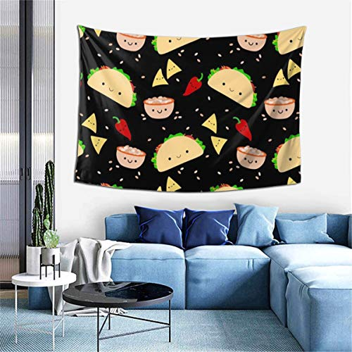 NiYoung Boutique Tapestry Hippie Tapestry Colorful Wall Hanging Tapestries Bedroom Decor Tapestry for Living Room Bedroom Home Indoor, Taco Tuesday Party