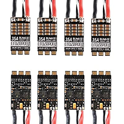 Crazepony-UK 4pcs 35A ESC BLHeli_32 32Bit Brushless ESC (Dshot1200) Electronic Speed Controller for FPV Multicopter Drone Quadcopter