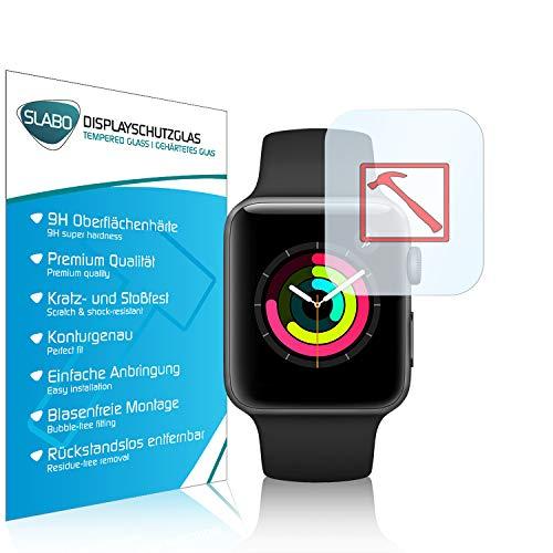 Slabo 3 x Premium Pellicola Protettiva in Vetro Temperato per Watch Series 3 (42mm) Tempered Glass Crystal Clear 9H