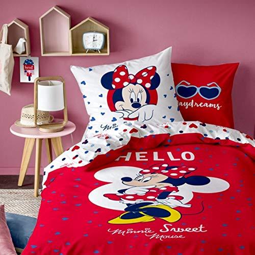 CTI Bettwäsche Hello Disney Minnie Mouse 80 x 80 cm / 135 x 200 cm