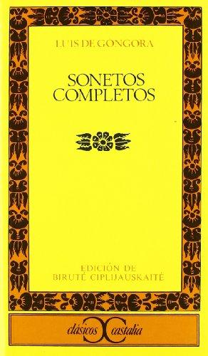 Sonetos completos .: 001 (CLASICOS CASTALIA. C/C.)