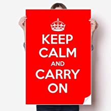 DIYthinker Quote Keep Calm and Carry On Red Sticker Poster Decal 31x22 31 inch x 22 inch(80cm x 55cm)