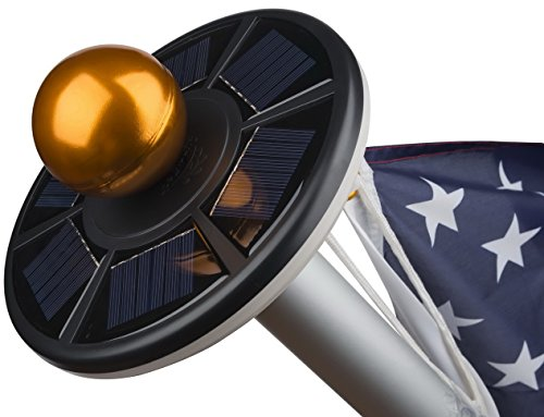 20 LED Downlight Solar Flag Pole Light by Sunnytech