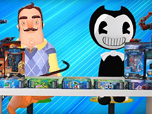 Bendy And The Ink Machine And Hello Neighbor Unboxing Toys