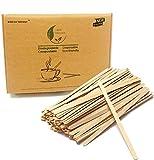 Mezcladores de 19 cm de largo para bebidas calientes y café, té, 1000 unidades, colección de madera natural agitador para bebidas calientes