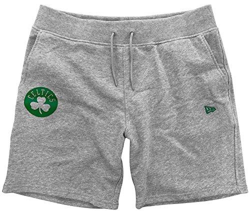New Era NBA Team App Pop Logo Short Kurze Hose BOSCEL Linie Boston Celtics, Unisex Erwachsene, Grau (LGH)