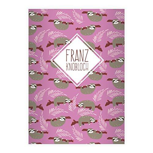 Kartenkaufrausch 16 gepersonaliseerde, grappige luier DIN A5 schoolschriften, schrijfschrift om te motiveren in roze liniëring 4 (gelinieerd boekje)