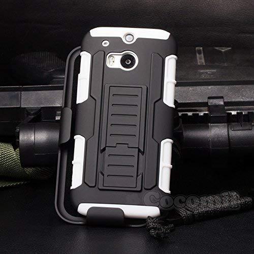 Cocomii Robot Armor HTC One M8/M8s Hülle NEU [Strapazierfähig] Erstklassig Gürtelclip Ständer Stoßfest Gehäuse [Militärisch Verteidiger] Ganzkörper Case Schutzhülle for HTC One M8 (R.White)