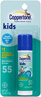 Coppertone Kids Sunscreen Stick SPF 55 0.60 oz (Pack of 3)