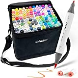 Ohuhu Markers Brush Tip & Fine, 120-Color Alcohol...