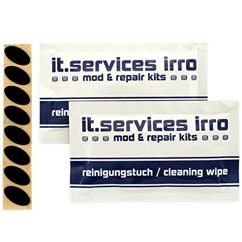 IT-Services Irro 2X Sets Glides/Mausgleiter passend für Logitech M500 / MX400 / MX610 / MX620 / MX1000 / MX5000 / MX Laser, inkl. 2 Reinigungspads