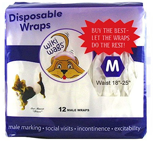 Wiki Wags Medium Male Dog Wraps