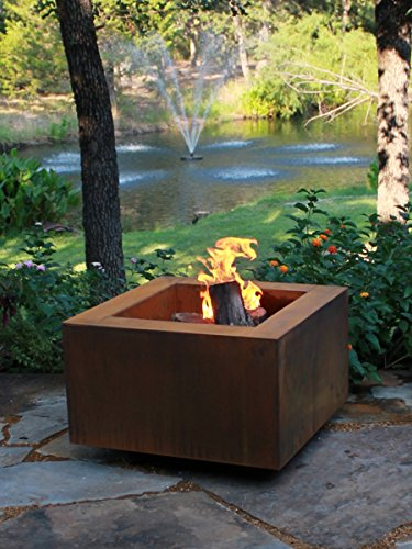 For Sale! Bentintoshape 30 Square Cor-Ten Steel Wood Burning Fire Pit