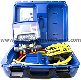 Yellow Jacket 40815 Refrigeration System Analyzer with Titan 4-Valve Manifold and Plus II Charging Hoses