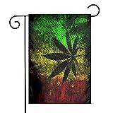 Zome Lag Reggae Rasta Cannabis Unkraut Garten Fahnen kleine Yard Fahnen langlebig wetterfeste Flagge doppelt genähte dekorative Flagge für zu Hause Indoor Outdoor Dekoration M