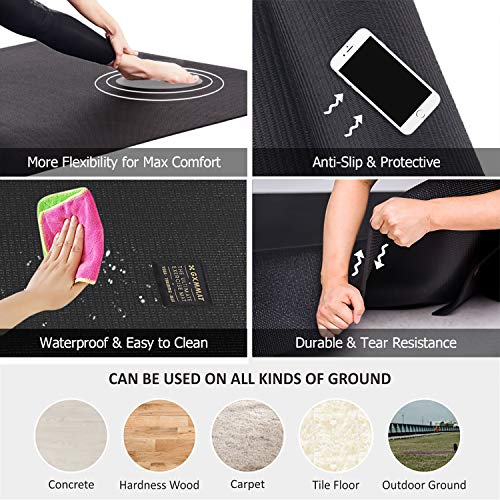 GXMMAT Extra Large Yoga Mat 10'x6'x7mm, Thick Workout Mats for Home Gym Flooring, Non-Slip Quick Resilient Barefoot Exercise Mat for Pilates, Stretching, Non-Toxic, Extra Wide and Ultra Comfortable