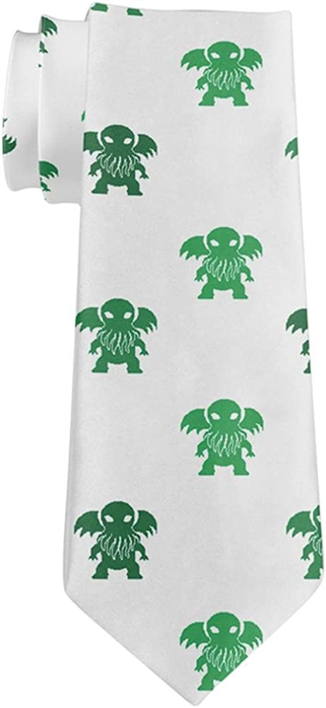 Cthulhu Christmas Pattern All Over Neck Tie