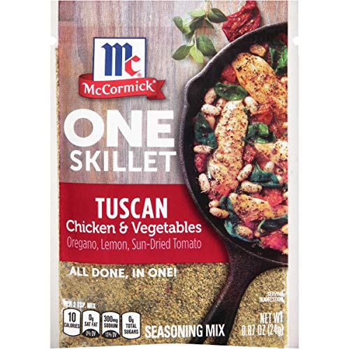 McCormick One Skillet Tuscan Chicken & Vegetables Seasoning Mix, 0.87 oz (Pack of 12)