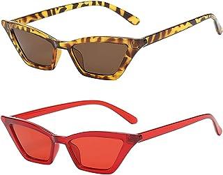 Sharplace - 2 Piezas de Gafas de Sol Retro con Forma de Ojo de Gato para Mujer