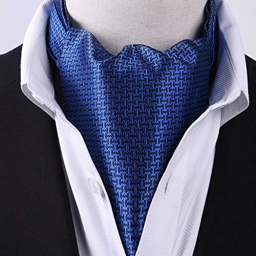 WZHZJ Halstuch Männer Jacquard Anzug Hemd Kragen Mode Business Scal Anzug Seide Schal Britisches Retro Hemd Gedruckte Schals (Color : D)