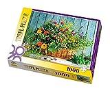 Outletdelocio.. Puzzle Trefl 10128. Canasta de Flores Rustica. 1000 Piezas