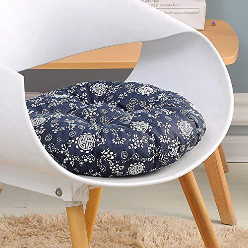 WEDZB Kussen, bureaustoel kussen computer stoel kussen rond mat sofa pad vilt mat traditionele zitkussen mat voor studenten