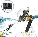 Sjpzwcrl Für GoPro Dome Port, Dome GoPro Port Objektiv für Gopro Zubehör Hero 8 Schwarz Kamera mit Floating Grip Trigger Wasserdichtes Gehäuse Unterwassergehäuse
