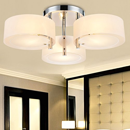 Kamerlamp Plafond Kroonluchter Restaurant Acryl Kroonluchter Met 3 Lichten (Chrome Finish) verlichting