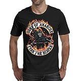 Men's Sons-of-Anarchy-Ireland-Irish-Shamrock-Reaper- Black Short Sleeved Cotton T-Shirts