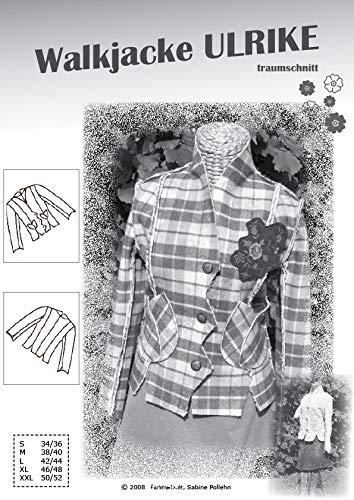 Farbenmix Ulrike Schnittmuster (Papierschnittmuster für die Größen 34/36-50/52) Walkjacke