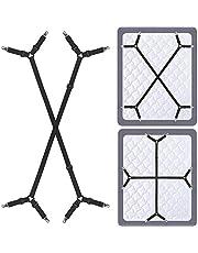 Siaomo Bed Sheet Fastener Straps (Sleep Tight) - Adjustable Elastic Sheets Holder for Mattress Sofa Cover
