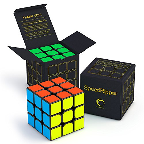 SpeedRipper Cube: Perfect for International Speed Cube Competitions - Buttery Smooth Turning - Solid & Durable, Best 3x3 Puzzle Magic Toy - Turns Quicker Than Original